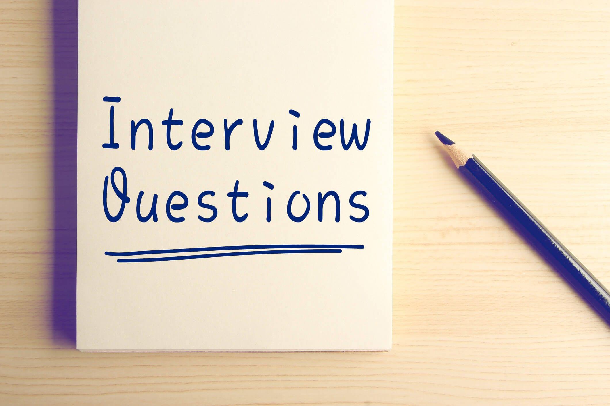 Die beliebtesten Fragen im Vorstellungsgespräch