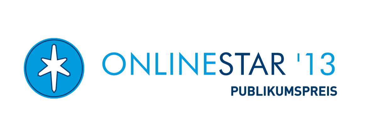 Logo: OnlineStar 2013 Publikumspreis