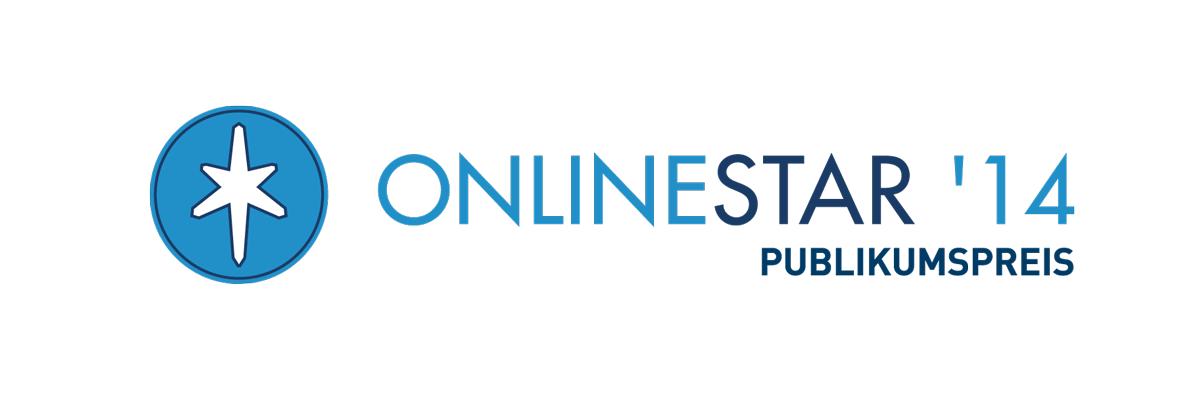 Logo OnlineStar 2014 Publikumspreis